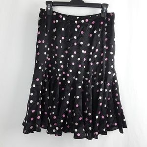 100% Silk Polka Dot Skater Skirt Pretty Cute